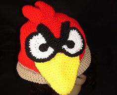 Angry Bird Hat #hat free #crochet #pattern