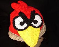 Free Crochet Angry Bird Hat Pattern.