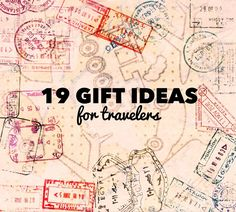 19 Gift Ideas for Travelers http://travelpaintrepeat.com/post/66166198680/19-gift-ideas-for-travelers #travel #gifts
