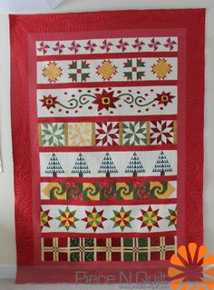 Piece N Quilt: Christmas Row Quilt