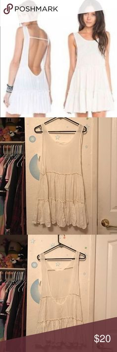 Brandy Melville Ingrid dress White Brandy Melville Ingrid dress. Never worn by me, no flaws. May need to be ironed (I don't have one). Best for a small or medium. TAGS: OM O-Mighty UNIF cartoons vintage cute kawaii 90s Wildfox Lazy Oaf Ragged Priest Dollskill AA American Apparel Free People F21 Forever 21 Hello Kitty Urban Outfitters UO Iron Fist Nasty Gal Brandy Melville Dresses Mini
