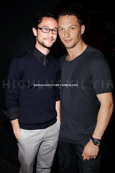 There they are again!!! Soooooo cute! Tom Hardy and JGL