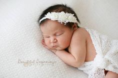 Baby  Rose Headband . Newborn Rose Tieback. by verityisabelle, £14.50