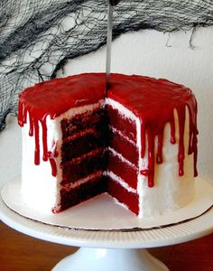 bloody mary cake.  Why have I never thought of how perfect red velvet is for Halloween?!
