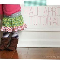 Little girl half apron <3