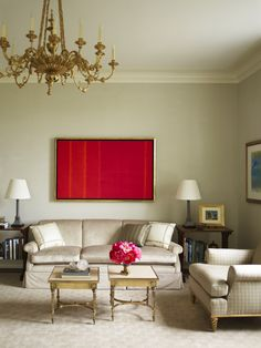 104 best Beautiful Interiors   Cullman and Kravis images on     Pop of Color in this elegant sitting room by Cullman Kravis