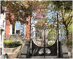 ART NOUVEAU Garden Gate, STRASBOURG, FRANCE