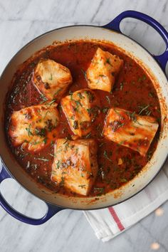 Spicy Tunisian Fish Stew - sophisticated flavor with just a few ingredients.