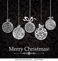 stock vector : Vintage card with Christmas balls. vector illustration
