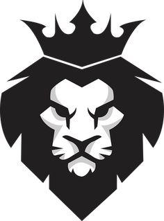 Black lion king PNG and Vector Logo Inspiration, Black And White Lion, Lion Vector, Vector File, Svg File, Crown Art, Lion Images, Lion Design, Lion Tattoo