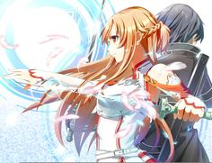 Asuna y kirito (sword art online) Sword Art Online Asuna, Kirito Sword, Kirito Asuna, Kirito Kirigaya, Arte Online, Kunst Online, Online Art, Manga Anime, Sao Anime