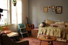Katie's Cozy Teeny Tiny Boho Studio - Poncey~Highland; Atlanta, Georgia -  300 sq ft - photos : apartmenttherapy