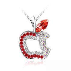 Swarovski crystal necklace - Peace apple  From Crystaljewelryuk.com