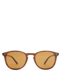 GARRETT LEIGHT Kinney round-frame sunglasses. #garrettleight #sunglasses
