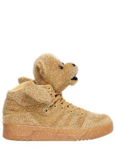Jeremy Scott Adidas By Bear Synthetic Lame High Sneakers on shopstyle.co.uk