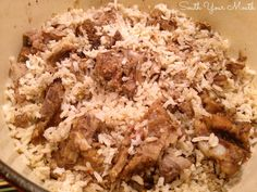 Pork neck bones and rice is classic Southern comfort food. Southern Dishes, Southern Recipes, Southern Food, Southern Hospitality, Southern Comfort, Southern Style, Country Style, Neckbones And Rice, Pork Neck Bones Recipe