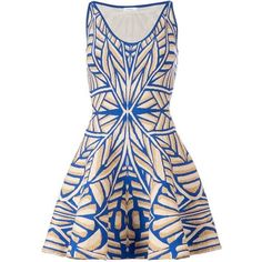GIG flared patterned dress (24 645 UAH) ❤ liked on Polyvore featuring dresses, vestidos, short dresses, mixed print dress, pattern dress, multi-color dress, multicolor dress and mini dress