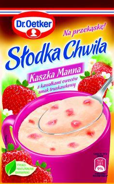 Słodka Chwila Kaszka Manna z kawałkami owoców - smak truskawkowy