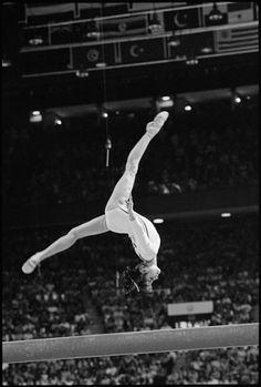 Raymond Depardon CANADA. Montreal. Olympic Games. 1976. Romanian gymnast, Nadia COMANECI  Magnum Photos