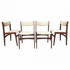 Ensemble de 4 chaises Scandinaves dans le goût de Skovby vers 1960