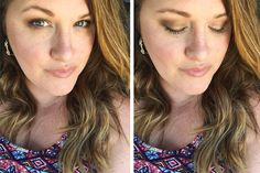 Before and after.  All skin care and makeup-- Limelight by Alcone products.