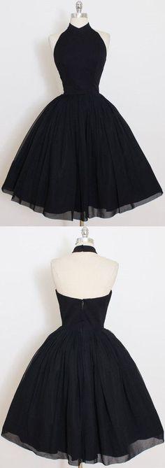 Black Homecoming Dresses, Short Homecoming Dress,Cute Black Short Homecoming Dress,,Short Prom Dresses,Lace V Neck Party Dresses #homecomingdresses