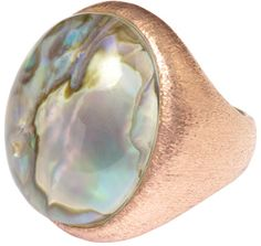 Ajei Abalone Orb Ring