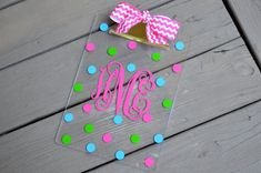 Personalize acrylic clipboardgreat teachers gift by twosisters76