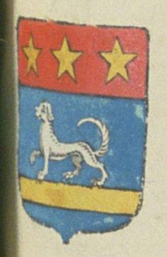Joseph VIAN, avocat au parlement de Provence. Porte : d'azur, à un chien d'argent, passant sur une face abaissée, d'or ; et un chef cousu de gueules, chargé de trois étoiles d'or | N° 1915