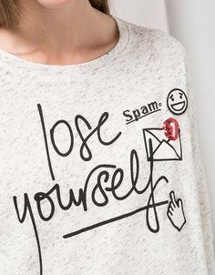 BSK email detail text sweatshirt - Sweatshirts - Bershka Serbia