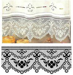 Kira scheme crochet: Scheme crochet no. Crochet Boarders, Crochet Lace Edging, Crochet Motifs, Thread Crochet, Crochet Trim, Crochet Doilies, Crochet Stitches, Crochet Patterns, Filet Crochet Charts