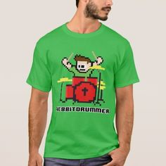 Masculine t-shirt 8 Bits Dark Battery - diy cyo customize create your own personalize