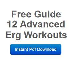 erg machine workout