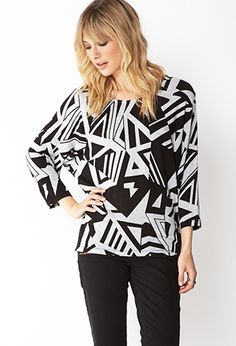 Edgy Angles Dolman Top | FOREVER21 - 2000108092