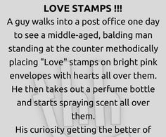 Love stamps - funny story