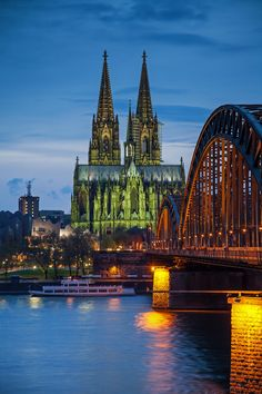 Cologne Cathedral and Rhine River, Germany (by Andi Line on 500px)