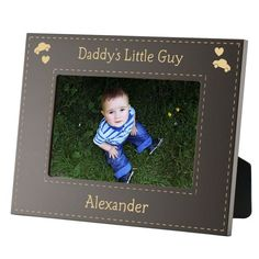 daddys little guy personalized 3x3 picture frame a great first fathers day
