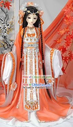 Ancient Chinese Palace Princess Costumes and Hair Accessories