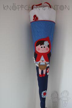 Schultüten - Schultüte Rotkäppchen - ein Designerstück von knoepfchenundanton bei DaWanda