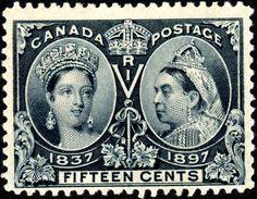Canada - SC#58 - 1897 - Diamond Jubilee Issues - 0.15 Steel Blue