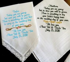... Gifts by Canyon Embroidery on Pinterest Flower girls, Wedding gifts