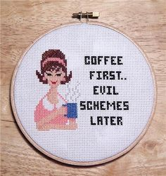 Coffee first, evil schemes later.