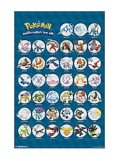 """Keep track of which Pokemon you still need to catch with this Legendary Pokemon poster. Gotta catch 'em all!<div><ul><li style=""""LIST-STYLE-POSITION: outside !important; LIST-STYLE-TYPE: disc !important"""">22"""" x 34""""</li><li style=""""LIST-STYLE-POSITION: outside !important; LIST-STYLE-TYPE: disc !important"""">Imported</li></ul></div>"""