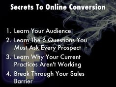 """""""Secrets To Online Conversion"""" - A Haiku Deck: Becoming a successful online marketer takes time and guidance from experts in the field that already have learned the ropes. Improve your conversions and take your business to the next level."""