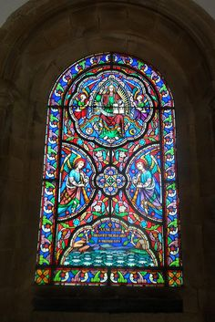 Stained glass window inEdlingham Church in Northumberland, England