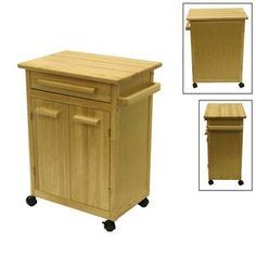 Winsome Wood 27-In L X 18.25-In W X 34.5-In H Natural Kitchen Island W