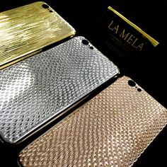 Luxury Italian design is at the heart of LA MELA's 18 kt gold plated iPhone covers.  The craftsmanship of Italian goldsmiths create the world's first collection of iPhone covers to feature more than 40 styles, exclusive handmade textures, diamond cutting and luxurious rose gold, yellow gold and white gold plating.