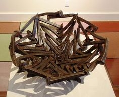 Bowl welded from railroad spikes, by Jemes Davis, Columbia, SC (courtesy of House of Frames and Paintings Gallery)