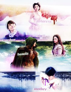 Snow White is a; Princess, Teacher, Bandit, Leader and a Mother.  Once Upon a Time