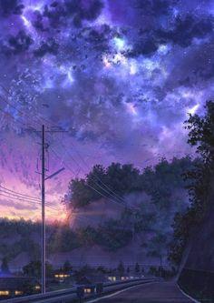 kawaii wallpapers Anime Art is part of - Anime sky art kawaii Wallpaper Sunset View night Beautiful AnimeArt AnimeWallpaper skyWallpaper KurdishOtaku Anime Scenery Wallpaper, Galaxy Wallpaper, Wallpaper Backgrounds, Wallpaper Desktop, Girl Wallpaper, Disney Wallpaper, Wallpaper Quotes, Painting Wallpaper, Sky Aesthetic